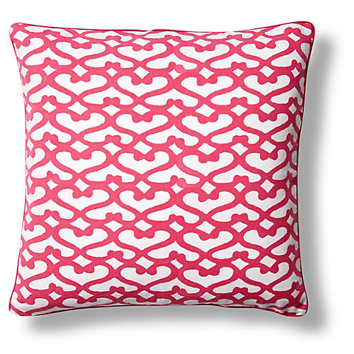 Big Cata Cotton Pillow Cover, Pink