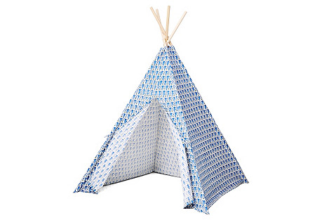 Monkey Teepee, Blue