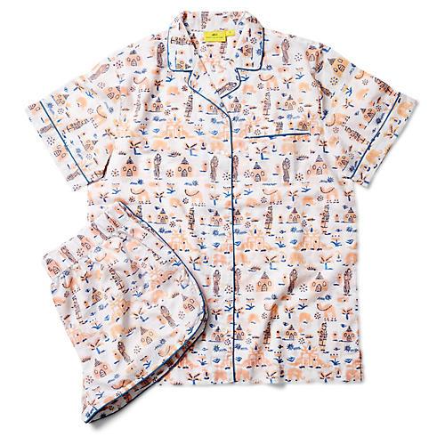 Nilasha Short Cotton Pajama Set, Blush