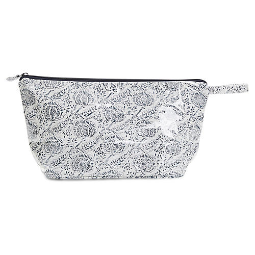 Ayong Toiletry Case, Navy/White