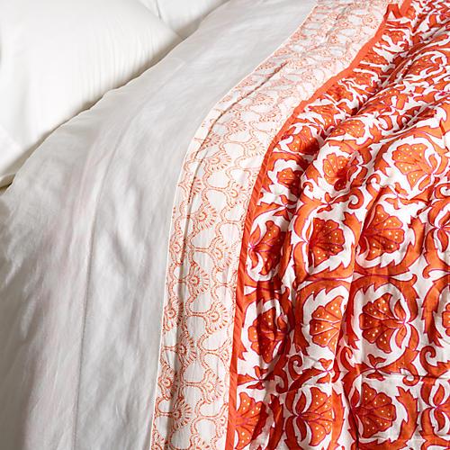 Vidya Quilt, Orange
