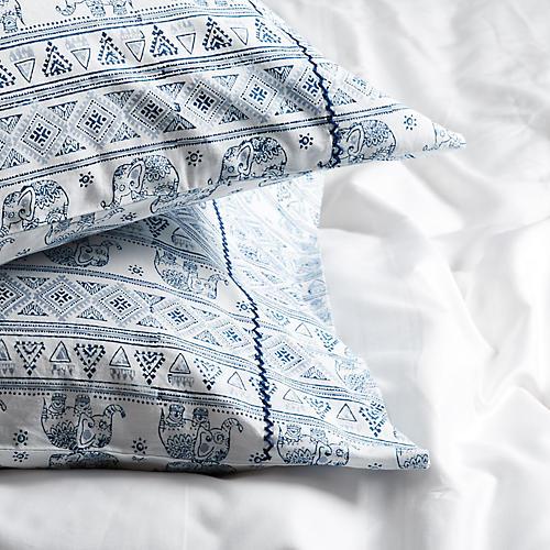 S/2 Nivin Pillowcases, Blue
