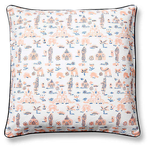 Nilasha Pillow Cover, Blush