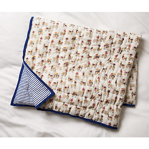 Alpacas Blanket, Beige