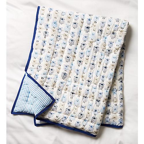 Woolies Blanket, Blue