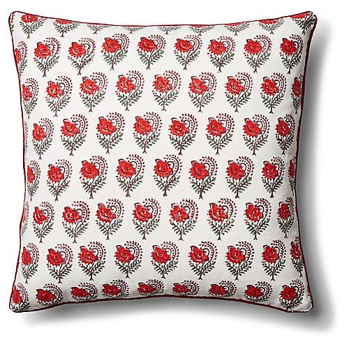 Ketaki 22x22 Pillow Soft Red
