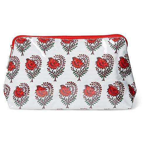 Ketaki All Over Makeup Bag, Red/Multi
