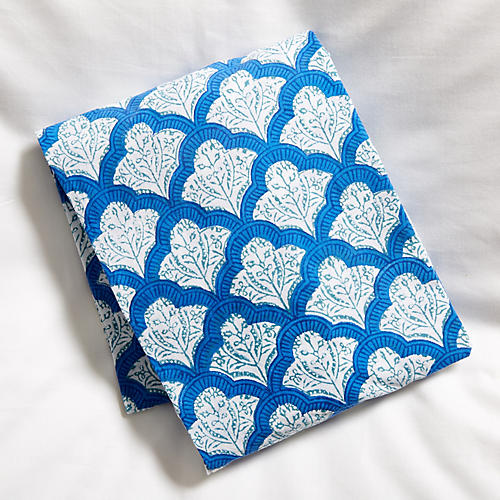 Jemina Fitted Crib Sheet, Blue