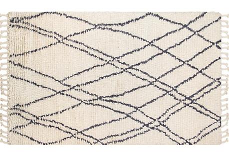 5'x8' Stellam Hand-Knotted Rug, Beige