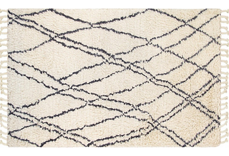 5'x8' Watson Hand-Knotted Rug, Beige