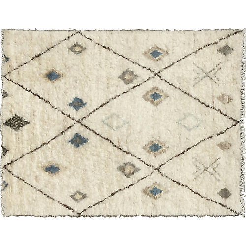Crescent Hand-Knotted Rug, Beige