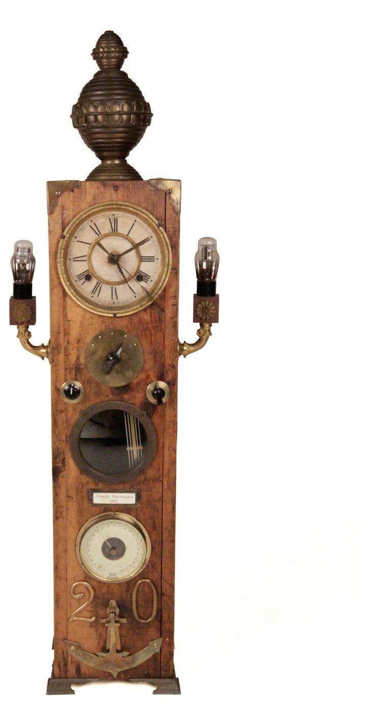 Steam Punk Tower Clock Sculpture