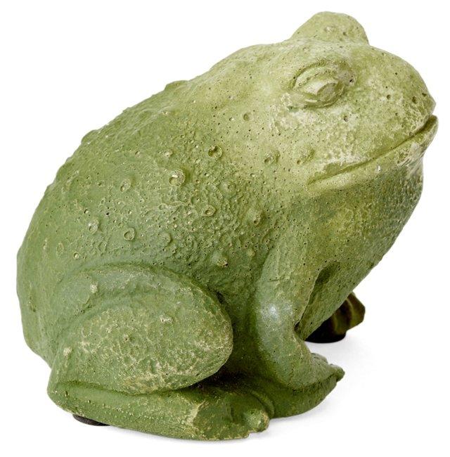 "S/2 4"" Cast Stone Toads"