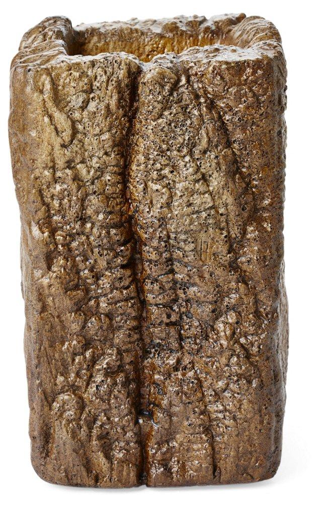 """9"""" Cast Stone Mesquite Vase"""