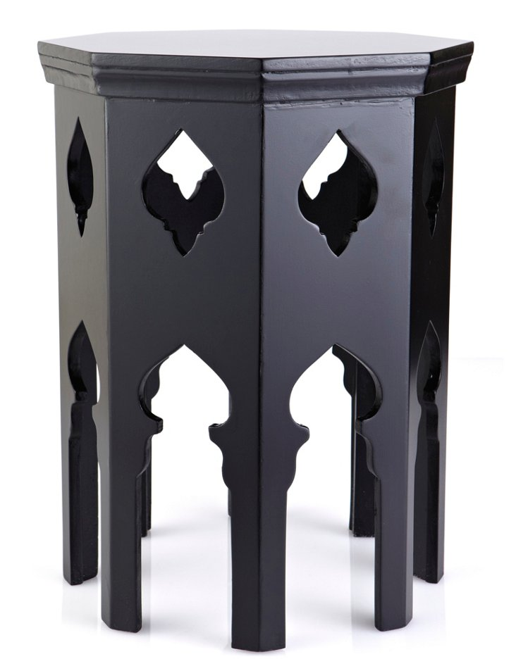 Tucker Octagonal Table, Black