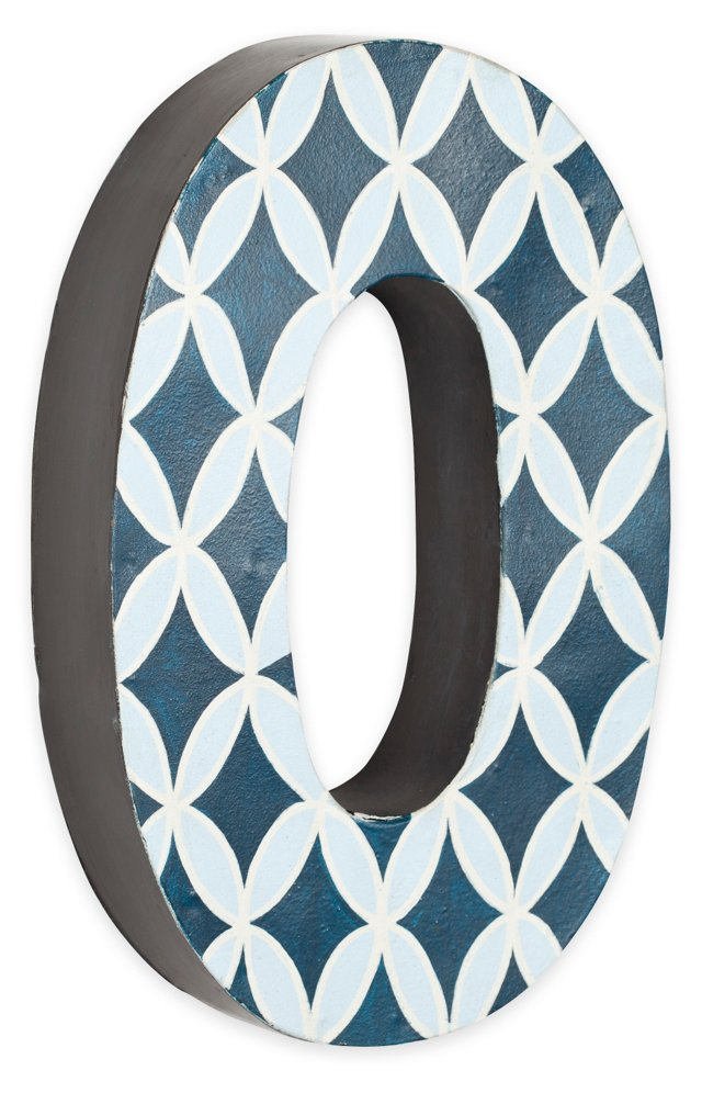 Letter O, Navy And Light Blue Circles