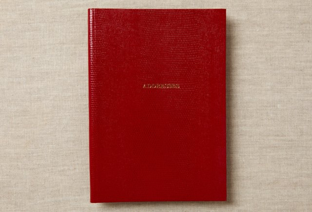 Address Notebook, Red
