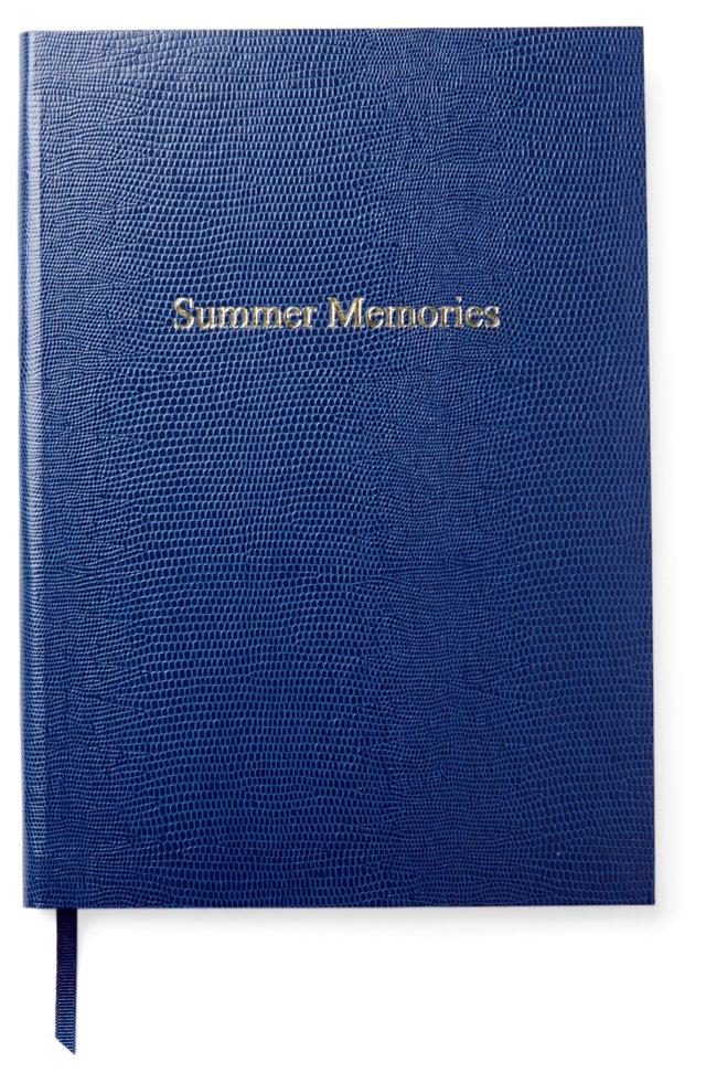 """""""Summer Memories"""" Journal, Royal Blue"""