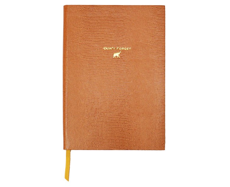 """Don't Forget"" Journal, Cognac"