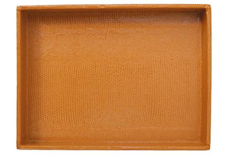 Medium Desk Tray, Cognac