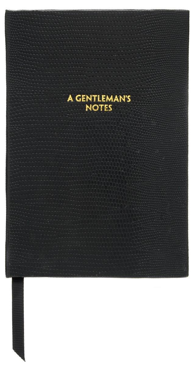 """""""A Gentleman's Notes"""" Journal, Black"""