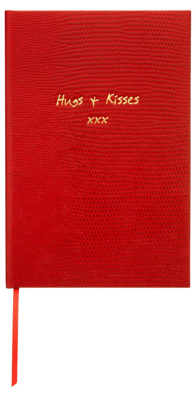 """""""Hugs & Kisses"""" Journal, Red"""
