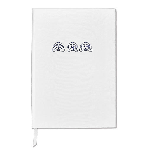 See No Evil Notebook, White/Navy