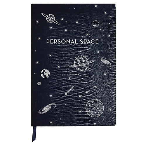 Personal Space Journal, Navy/White