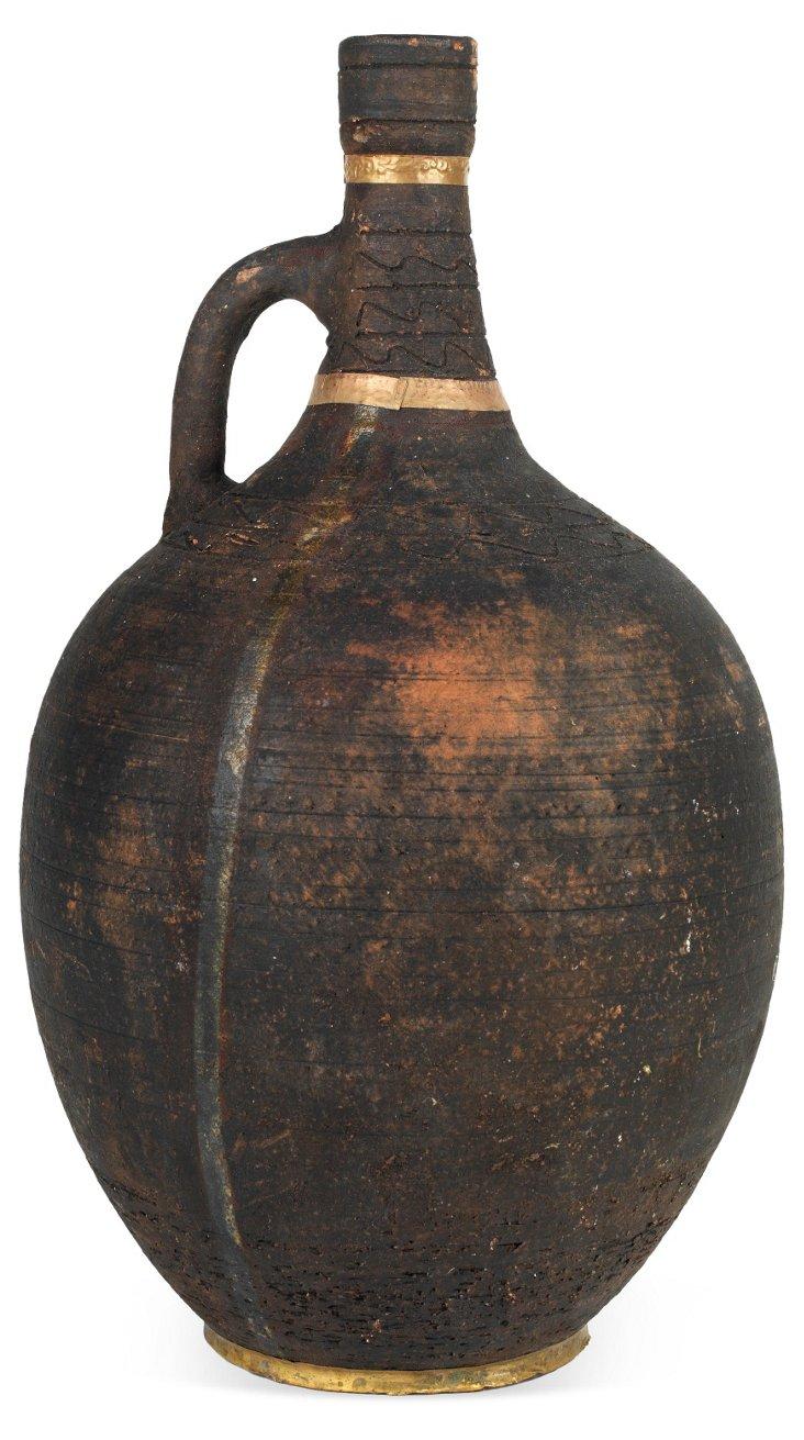 Black Terracotta Vessel