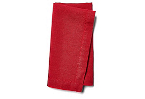 S/4 Washed Linen Napkins, Core Red