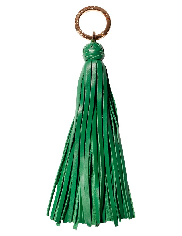 Leather Tassel, Emerald