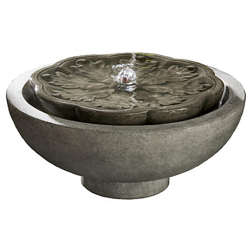 "16"" Flores Fountain, Alpine Stone"
