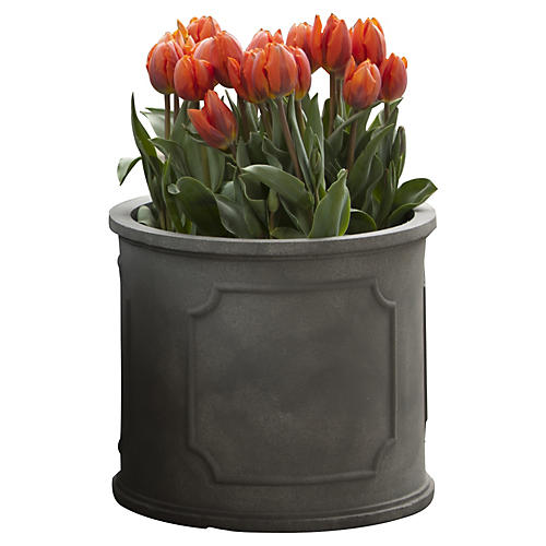 Portsmouth Round Planter, Lead