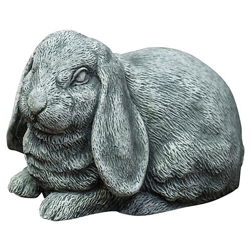 "10"" Lop-Eared Bunny, Gray"