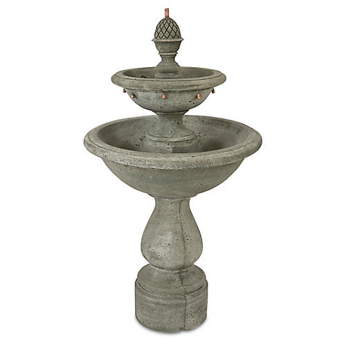 "52"" Charente Fountain, Distressed Gray"