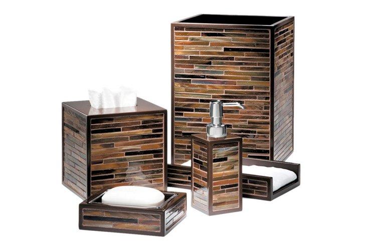 Bruno 5 Piece Bath Set, Chrome