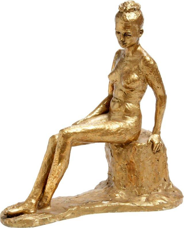 French Art Deco Figurine, C. 1940