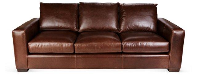 "Aiden 88"" Leather Sofa"