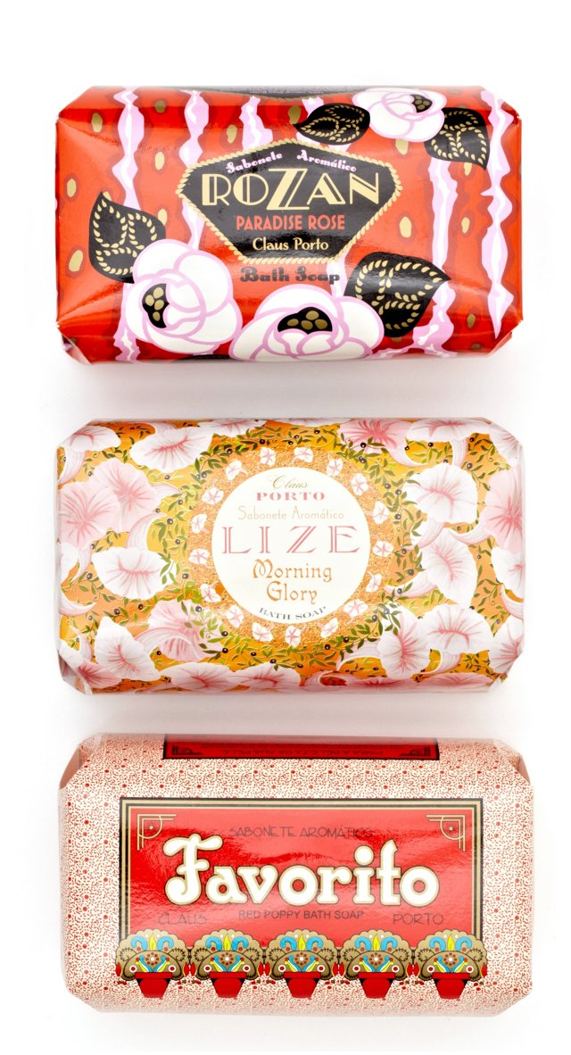 S/3 Gift-Wrapped Soaps, Deco Collection