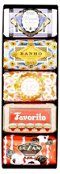 Set of 5 Hand-Soaps, Chocolate
