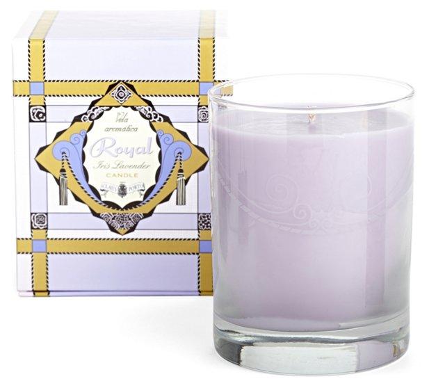 Claus Porto Candle, Iris/Lavender