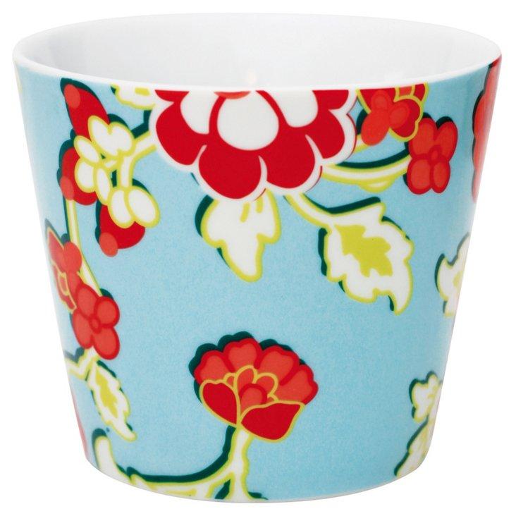 S/6 Falby DK Flower Mugs, Red