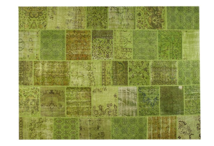 9x12 Patchwork Rug, Grass/Lime
