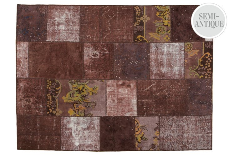 """5'8""""x7'8"""" Nerin Overdyed Rug, Toffee"""