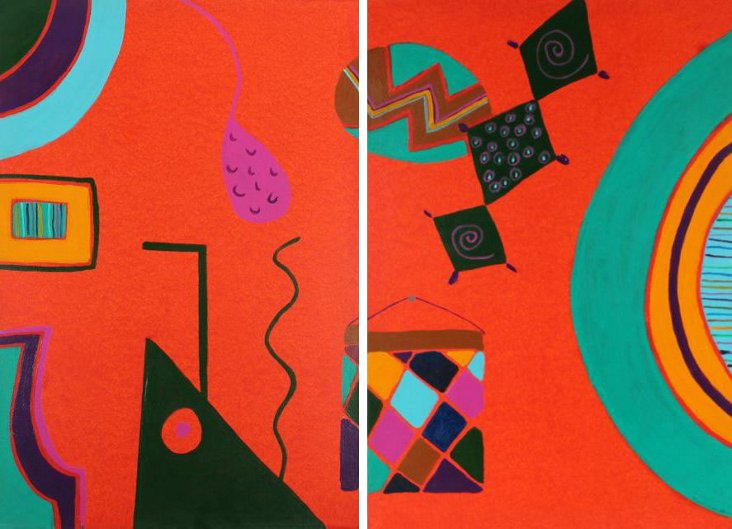 Party Time Diptych, Frances Hicks