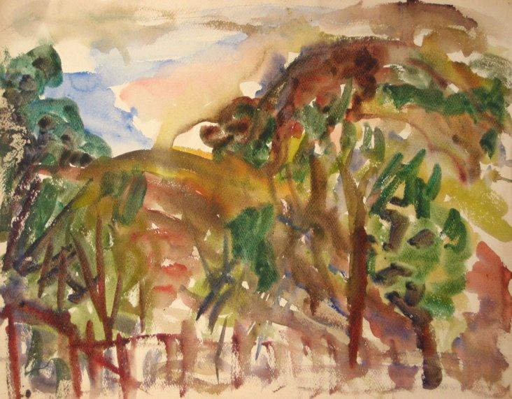 1940s-60s Van Wingerden Watercolor