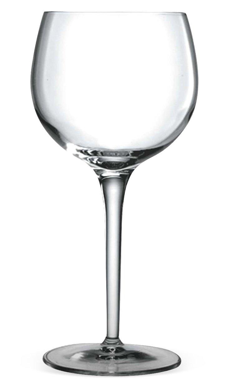 S/4 Burgundy Glasses, Roma