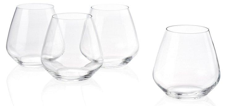 S/6 Stemless Pinot Noir Glasses