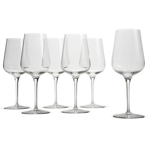S/6 White-Wine Glasses