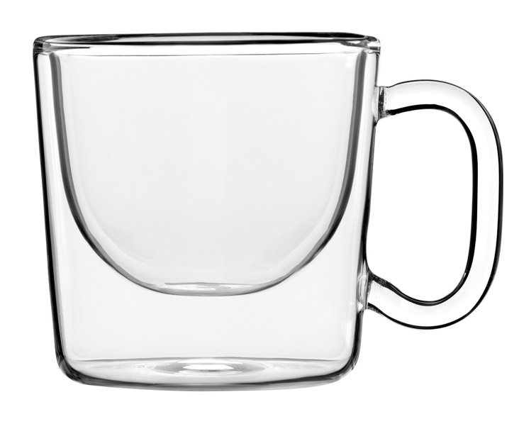 S/2 Wide Double-Wall Mugs